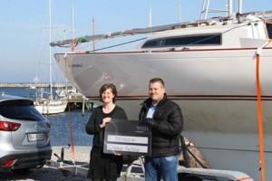 Kapsejladsskolen, H-båd modtagelse af penge fra Nodea