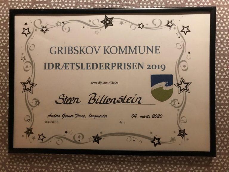 Stort tillykke til Steen Billenstein med årets idrætslederpris 2019